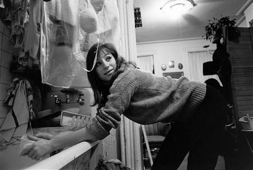 Barbara Streisand in her kitchen, Brooklyn, NY, 1964 Gelatin Silver print
