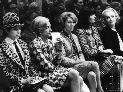 Barbra Streisand with Marlene Dietrich and Elsa Martinelli (Wearing Chanel Suits), Chanel Fashion Show, Paris, 1966 Gelatin Silver print