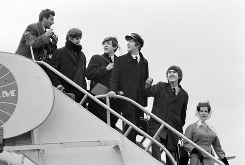 Beatles arrive JFK Airport, New York, February 7, 1964. Copyright Bill Eppridge Gelatin Silver print