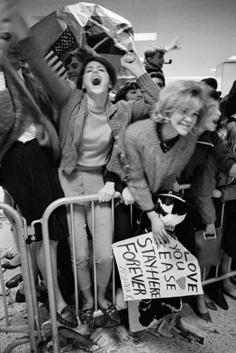 Screaming Girls, JFK Airport, NY, Febraury 7, 964. Copyright Bill Eppridge Gelatin Silver print