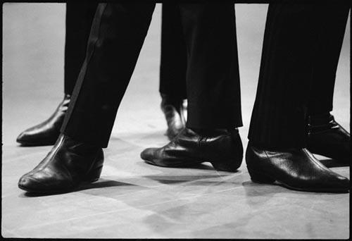 Beatles' Boots, Ed Sullivan Theater, Feb 8, 1964. Copyright Bill Eppridge<br/>