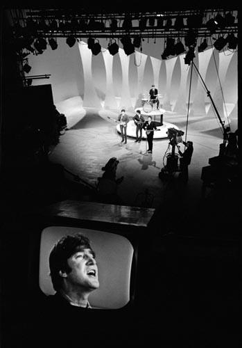 The Beatles Perform on The Ed Sullivan Show, Feb 9, 1964.  Copyright Bill Eppridge Gelatin Silver print
