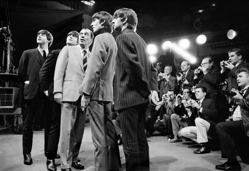 The Beatles with Ed Sullivan, Feb 9, 1964. Copyright Bill Eppridge