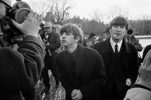 Ringo Starr & John Lennon, Central Park Photo OP, Feb 1964. Copyright Bill Eppridge Gelatin Silver print