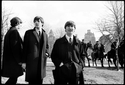 Ringo, Paul, John. Central Park Photo OP. Feb 1964. Copyright Bill Eppridge Gelatin Silver print