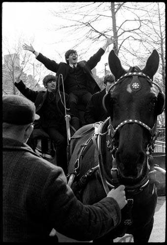 Ringo & Paul. Central Park Photo OP. Feb 1964.  Copyright Bill Eppridge Gelatin Silver print