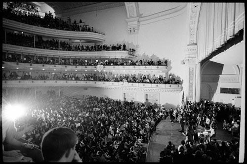 The Beatles play Carnegie Hall, New York City. Feb 12, 1964. Copyright Bill Eppridge Gelatin Silver print