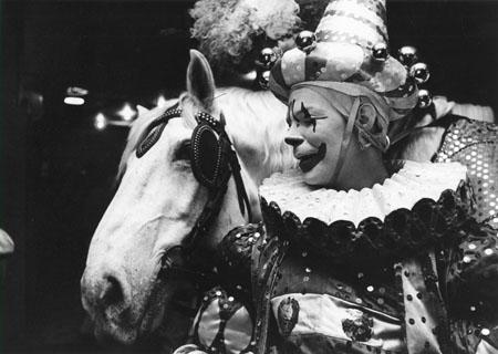 Clown George Barnaby and partner, Ringling Brothers, New York, 1952 Gelatin Silver print