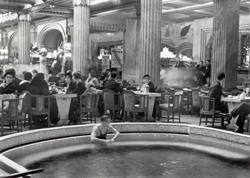 Swimming Pool in Cafe in Paris Hotel, 1932 Gelatin Silver print