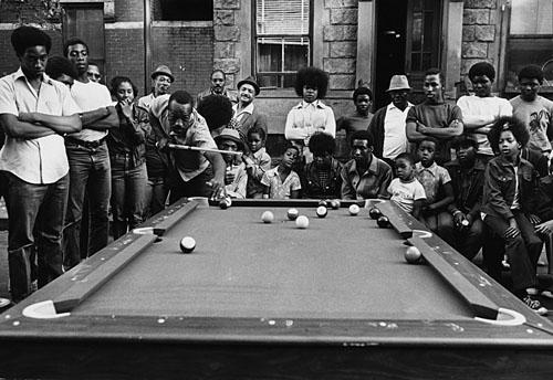 Pool comes to Harlem, New York, 1981 Gelatin Silver print