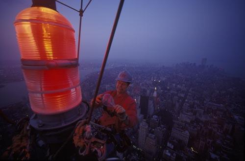 Changing Light Bulb, Empire State Building, New York, 2001 Archival Pigment Print