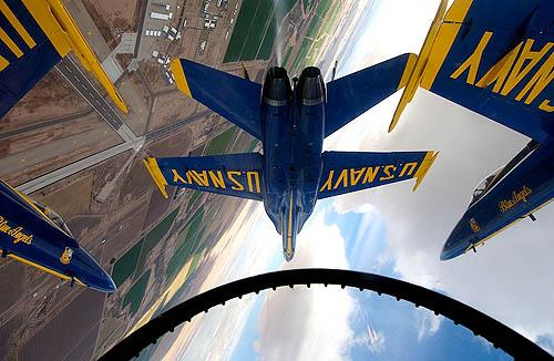 Blue Angels 360 Roll, 2003 Archival Pigment Print