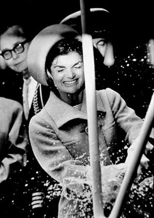 Jackie Kennedy Christens the Lafayette, Groton, CT, 1962 Gelatin Silver print