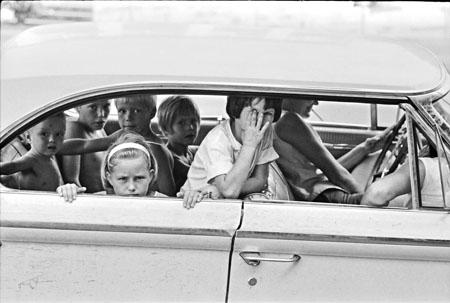 Young White children on the day of James Chaney's Funeral, Neshoba County, Mississippi, August, 1964 Gelatin Silver print