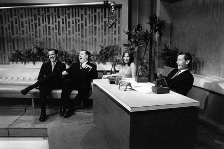 Barbra Streisand on the Johnny Carson Show, New York, 1963 Gelatin Silver print