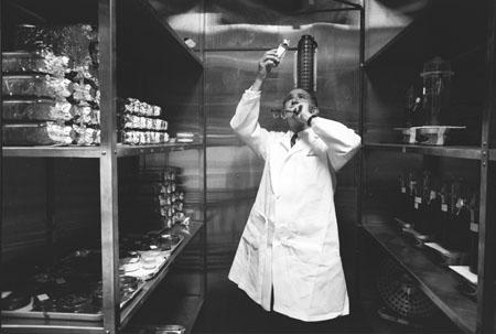 Jonas Salk in his lab, 1963<br/>