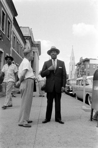 Martin Luther King at Bus Boycott, Montgomery, Alabama, 1958<br/>