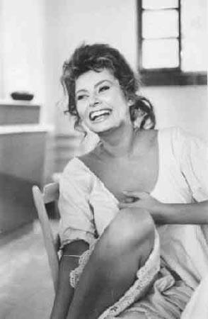 "Sophia Loren on the set of ""Madame"", 1961"