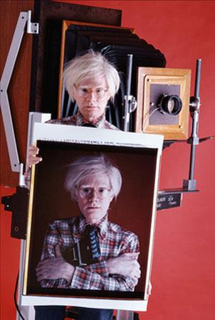 Andy Warhol with Polaroid Camera, NY, 1980 Chromogenic print