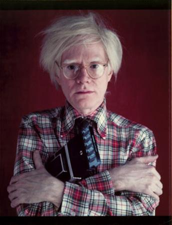 Andy Warhol with Polaroid, 1980 Chromogenic print