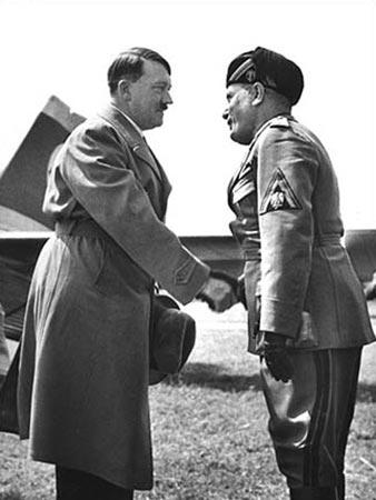 The First Meeting of Mussolini and Hitler,Venice, June 13,1934 Gelatin Silver print