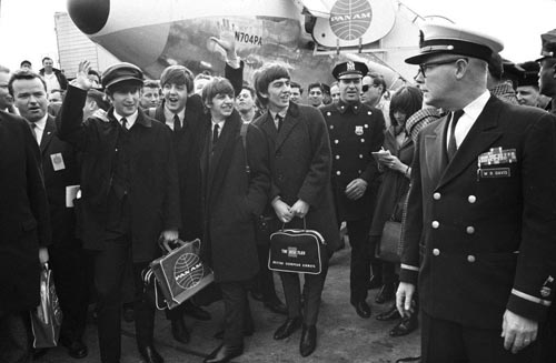 The Beatles arrive, February 7, 1964, New York