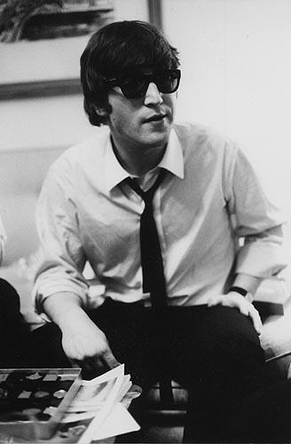 John Lennon at the Plaza, Feb. 7, 1964<br/>