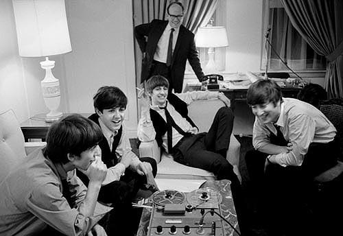 The Beatles at the Plaza Hotel, February 7, 1964. Gelatin Silver print