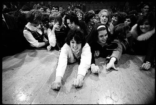Beatle fans scramble for Jelly Beans, Washington Coliseum, 1964 Gelatin Silver print