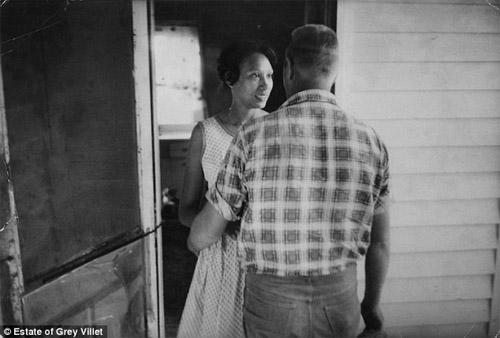 Mildred and Richard Loving, King and Queen County, Virginia in April 1965<br/>