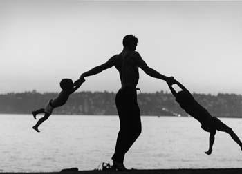Jacques D'Amboise Playing with his Sons, Seattle, Washington, 1962 by John Dominis Gelatin Silver print
