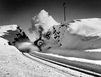 Southern Pacific Steam Engine, Donner Pass, California, 1949 by John Dominis - Time Inc Gelatin Silver print