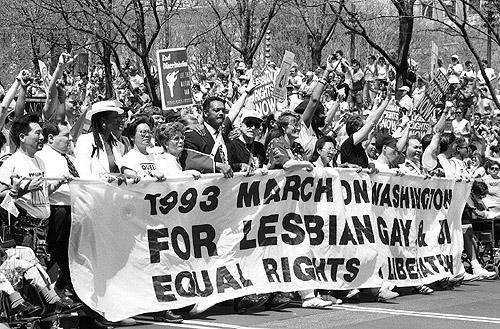 Equal Rights March, Washington, DC, 1993<br/>