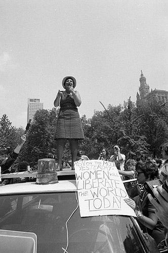 Women's Liberation March, Bella Abzug, New York, 1970<br/>