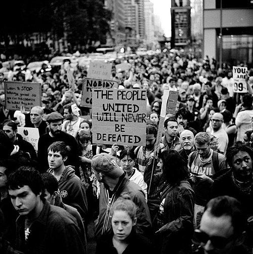 Occupy Wall Street Demonstration, New York 2011 Archival C Print