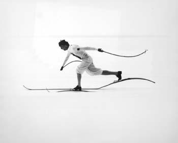 Cross country skier at the 1960 Winter Olympics, Squaw Valley, California, 1960 Gelatin Silver print