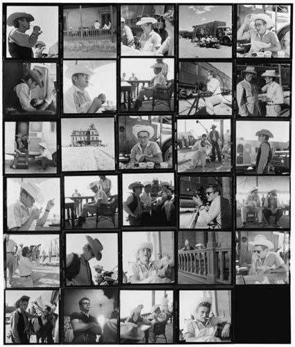 "James Dean Contact Sheet from ""Giant"" Fuji Crystal Archive Print"