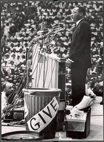 Martin Luther King Jr at a rally in Detroit, 1963 - Photo by Francis Miller Vintage Gelatin Silver Print