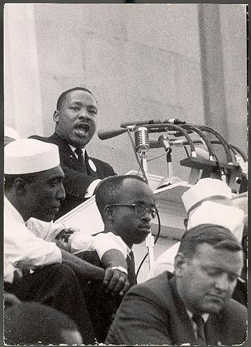 """I Have  dream"", Martin Luther King Jr at rally in Washington, DC, 1963 - Photo by Francis Miller Vintage Gelatin Silver Print"