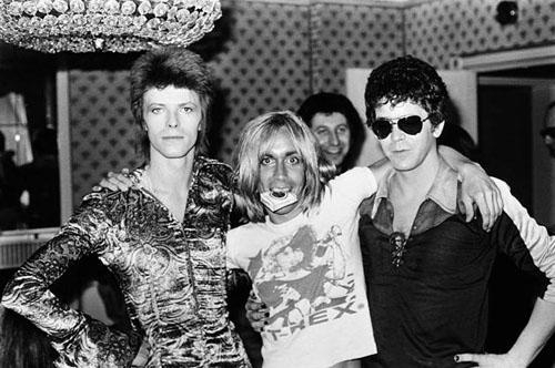 David Bowie, Iggy Pop, Lou Reed, London, 1972<br/>