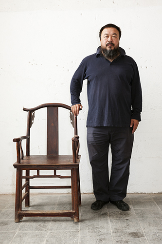Martin Parr --  The artist, curator and architectural designer Ai Weiwei, Kassel. Documenta 12 Art Exhibition, 2007