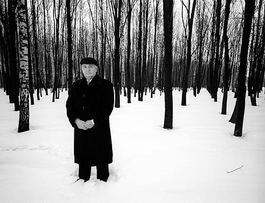 Alone in the Woods, Mikhail Gorbachev, Moscow, 1998<br/>
