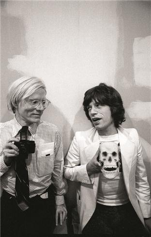 Andy Warhol and Mick Jagger<br/>