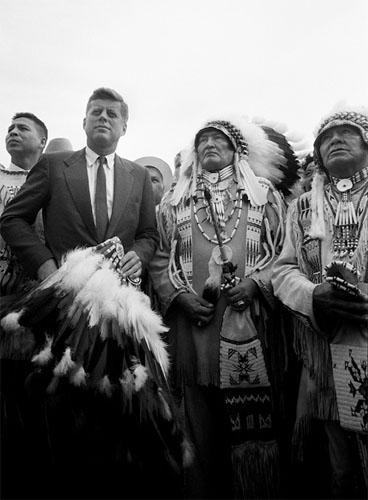 """Two Chiefs"" John F. Kennedy with Delegates from the American Indian Chicago Conference, 1962<br/>"