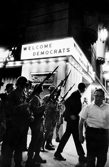 """Welcome Democrats"" Hilton Hotel, Michigan Avenue, August 1968, Democratic Convention<br/>"