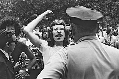 Commemoration of the 1969 Stonewall riots in Greenwich Village, New York, 1971<br/>
