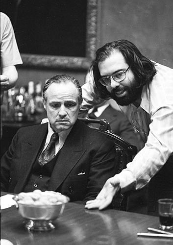 Marlon Brando and Francis Ford Coppola, The Godfather, 1971 Gelatin Silver print