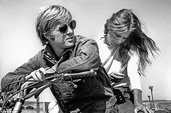 Robert Redford and Lauren Hutton on the set of 1970 movie Little Fauss And Big Halsy Gelatin Silver print