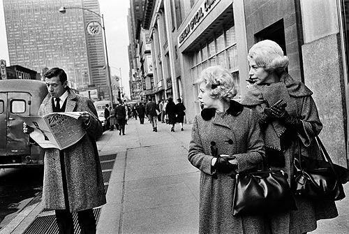 Yves Montand, Fifth Avenue, New York, 1971 Gelatin Silver print