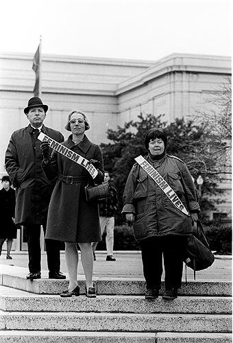 Feminists at a rally, Washington, DC, 1968 Gelatin Silver print